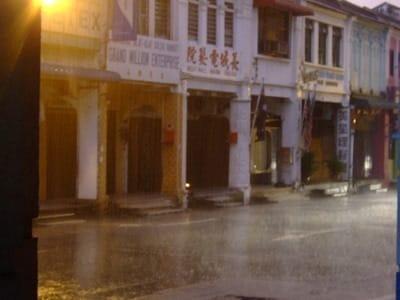 penang in the rain
