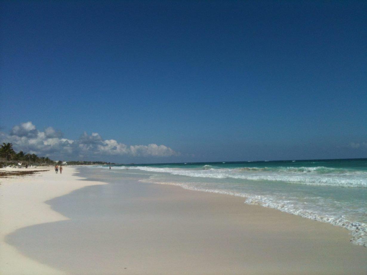 tulum beach and sky