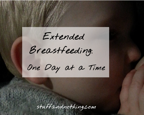 Extended Breastfeeding: One Day at a Time